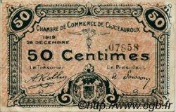 50 Centimes FRANCE régionalisme et divers CHATEAUROUX 1919 JP.046.20 TTB à SUP