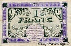 1 Franc FRANCE régionalisme et divers CHATEAUROUX 1919 JP.046.21 TTB à SUP