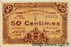 50 Centimes FRANCE régionalisme et divers Chateauroux 1920 JP.046.22 SPL à NEUF