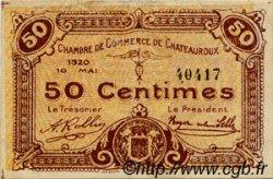 50 Centimes FRANCE régionalisme et divers Chateauroux 1920 JP.046.22 TTB à SUP