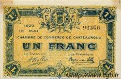 1 Franc FRANCE régionalisme et divers CHATEAUROUX 1920 JP.046.23 TTB à SUP