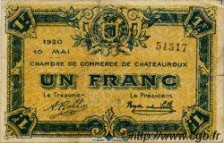1 Franc FRANCE régionalisme et divers CHATEAUROUX 1920 JP.046.23 TB