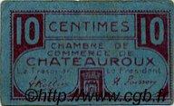 10 Centimes FRANCE régionalisme et divers CHATEAUROUX 1918 JP.046.32 TTB à SUP