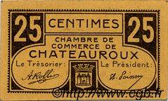 25 Centimes FRANCE régionalisme et divers Chateauroux 1918 JP.046.33 TTB à SUP
