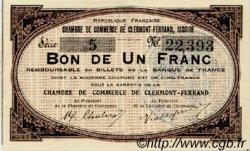 1 Franc FRANCE régionalisme et divers CLERMONT-FERRAND, ISSOIRE 1918 JP.048.01 SPL à NEUF