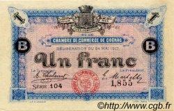 1 Franc FRANCE régionalisme et divers Cognac 1917 JP.049.07 SPL à NEUF