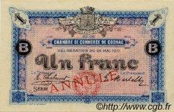 1 Franc FRANCE régionalisme et divers Cognac 1917 JP.049.08 SPL à NEUF