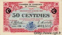 50 Centimes FRANCE régionalisme et divers Cognac 1920 JP.049.09 TTB à SUP