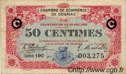 50 Centimes FRANCE régionalisme et divers COGNAC 1920 JP.049.09 TB