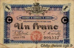 1 Franc FRANCE régionalisme et divers COGNAC 1920 JP.049.10 TB