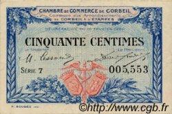 50 Centimes FRANCE régionalisme et divers Corbeil 1920 JP.050.01 TTB à SUP