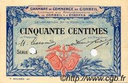 50 Centimes FRANCE régionalisme et divers Corbeil 1920 JP.050.02 SPL à NEUF