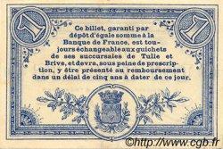 1 Franc FRANCE régionalisme et divers CORRÈZE 1915 JP.051.03 TB