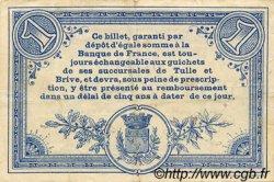 1 Franc FRANCE régionalisme et divers Corrèze 1915 JP.051.06 TTB à SUP