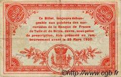 50 Centimes FRANCE régionalisme et divers Corrèze 1915 JP.051.09 TTB à SUP