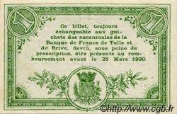 1 Franc FRANCE régionalisme et divers Corrèze 1915 JP.051.12 TTB à SUP