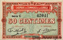 50 Centimes FRANCE régionalisme et divers CORRÈZE 1915 JP.051.15 TTB à SUP