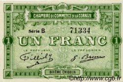 1 Franc FRANCE régionalisme et divers CORRÈZE 1915 JP.051.16 SPL à NEUF