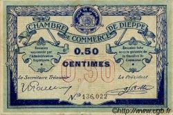 50 Centimes FRANCE régionalisme et divers Dieppe 1918 JP.052.01 TB