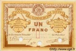 1 Franc FRANCE régionalisme et divers Dieppe 1918 JP.052.06 SPL à NEUF