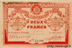 2 Francs FRANCE régionalisme et divers Dieppe 1918 JP.052.07 TTB à SUP