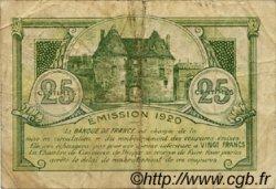 25 Centimes FRANCE régionalisme et divers Dieppe 1920 JP.052.10 TB