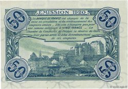 50 Centimes FRANCE régionalisme et divers DIEPPE 1920 JP.052.14 SPL à NEUF