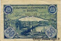 50 Centimes FRANCE régionalisme et divers DIEPPE 1920 JP.052.14 TTB à SUP