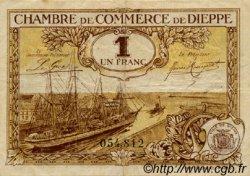 1 Franc FRANCE régionalisme et divers DIEPPE 1920 JP.052.16 TTB à SUP