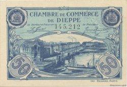 50 Centimes FRANCE régionalisme et divers Dieppe 1920 JP.052.22 SPL à NEUF