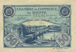 50 Centimes FRANCE régionalisme et divers DIEPPE 1920 JP.052.22 TTB à SUP