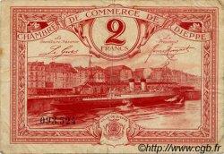 2 Francs FRANCE régionalisme et divers DIEPPE 1920 JP.052.26 TB