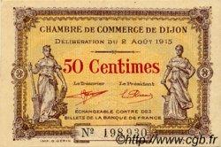 50 Centimes FRANCE régionalisme et divers DIJON 1915 JP.053.01 SPL à NEUF