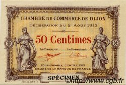 50 Centimes FRANCE régionalisme et divers DIJON 1915 JP.053.02 TTB à SUP