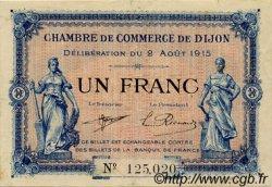 1 Franc FRANCE régionalisme et divers Dijon 1915 JP.053.04 TTB à SUP