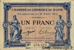 1 Franc FRANCE régionalisme et divers Dijon 1915 JP.053.04 TB