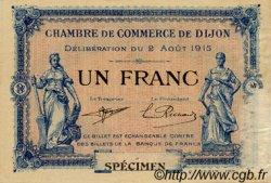 1 Franc FRANCE régionalisme et divers DIJON 1915 JP.053.06 TTB à SUP
