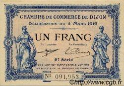 1 Franc FRANCE régionalisme et divers Dijon 1916 JP.053.09 SPL à NEUF
