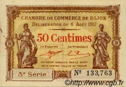 50 Centimes FRANCE régionalisme et divers DIJON 1917 JP.053.10 TTB à SUP