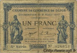 1 Franc  FRANCE regionalism and various Dijon 1917 JP.053.14