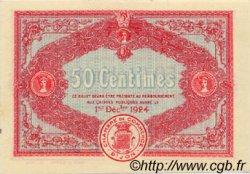 50 Centimes FRANCE régionalisme et divers Dijon 1919 JP.053.17 SPL à NEUF