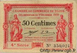 50 Centimes FRANCE régionalisme et divers DIJON 1919 JP.053.17 TB