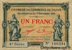 1 Franc FRANCE régionalisme et divers DIJON 1919 JP.053.20 TB