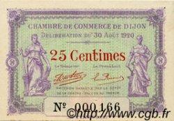 25 Centimes FRANCE régionalisme et divers DIJON 1920 JP.053.23 SPL à NEUF