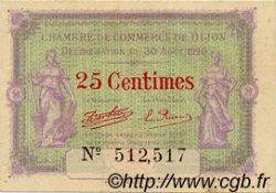 25 Centimes FRANCE régionalisme et divers DIJON 1920 JP.053.23 TTB à SUP