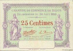 25 Centimes FRANCE régionalisme et divers DIJON 1920 JP.053.24 SPL à NEUF