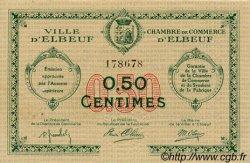 50 Centimes FRANCE régionalisme et divers Elbeuf 1918 JP.055.04 TTB à SUP