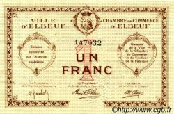 1 Franc FRANCE régionalisme et divers ELBEUF 1918 JP.055.05 TTB à SUP
