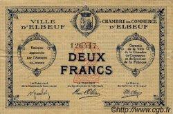 2 Francs FRANCE régionalisme et divers ELBEUF 1918 JP.055.06 TTB à SUP