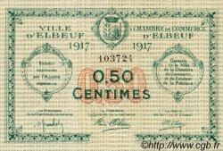 50 Centimes FRANCE régionalisme et divers ELBEUF 1917 JP.055.09 TTB à SUP